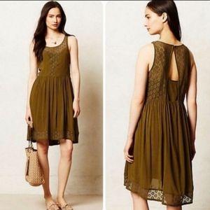Anthropologie Lilka Dress with Crochet Detail
